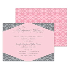 Romantic Look Rehearsal Dinner Invitation