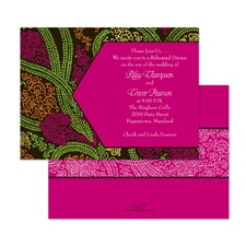 Jewel Tones Rehearsal Dinner Invitation