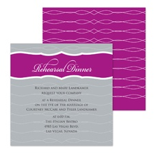 Modern Crest Rehearsal Dinner Invitation