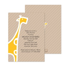 Baby Giraffe Baby Shower Invitation - Marigold