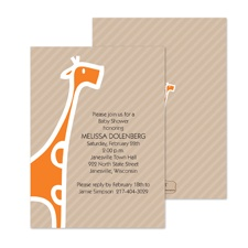 Baby Giraffe Baby Shower Invitation - Poppy