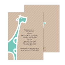 Baby Giraffe Baby Shower Invitation -Surf