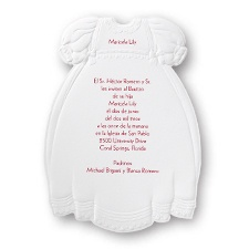 Christening Gown Baptism Invitation
