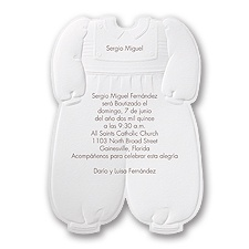 Christening Suit Baptism Invitation