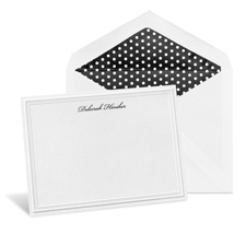 Embossed Modern White Note Card
