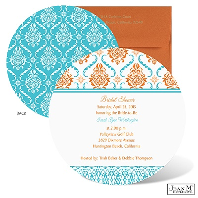 ... Bridal Shower · Fashion Damask Bridal Shower Invitation - Poolside