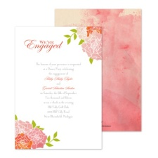 Watercolor Roses Engagement Party Invitation