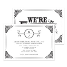 Classic Announcement Engagement Party Invitation