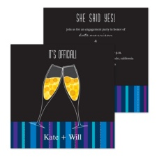 It's Official Engagement Party Invitation