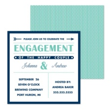 Happy Couple Engagement Party Invitation