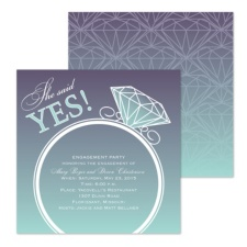Yes to the Bling Engagement Party Invitation