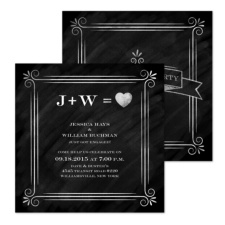 Engagement Equation Engagement Party Invitation