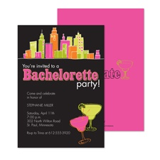 City Girl Bachelorette Party Invitation