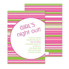 High Style Stripes Bachelorette Party Invitation