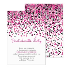 Sassy Confetti Bachelorette Party Invitation