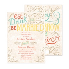 Vintage Promises Rehearsal Dinner Invitation