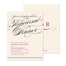 Together Forever Rehearsal Dinner Invitation