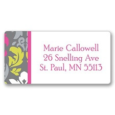 Retro Damask Address Label