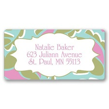 Modern Paisley Address Label