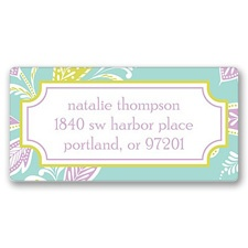 Nouveau Flowers Address Label