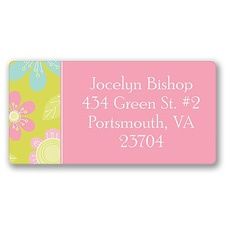 Flower Power Address Label