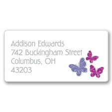 Beautiful Butterflies Address Label