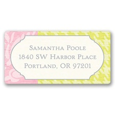 Retro Roses Address Label