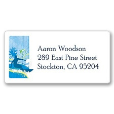 Surf's Up Address Label