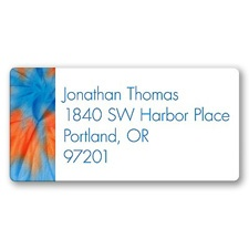 Cool Tie Dye Address Label