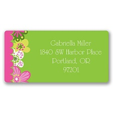 Pretty Posies Address Label