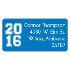 Super Stripe Graduation Address Label