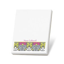 Retro Damask Note Pad
