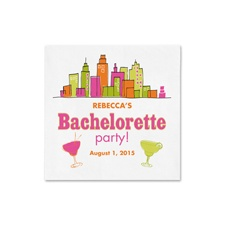 City Girl Bachelorette Ooh La Color Cocktail  Napkin