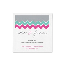 Pastel Chevron Ooh La Color Cocktail  Napkin