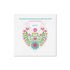 Floral Sweetheart Ooh La Color Cocktail Napkins