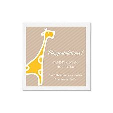 Baby Giraffe Ooh La Color Cocktail Napkins - Marigold