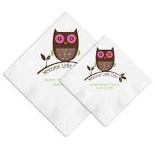 Argyle Owl Ooh La Color Napkins