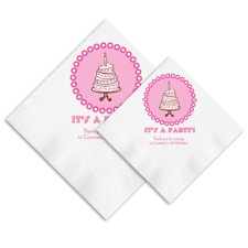 Cute Cake Ooh La Color Napkins