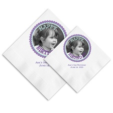 Banner Day Photo Ooh La Color Napkins