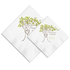 Carved Initials Ooh La Color Napkins