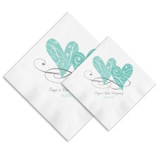 Two Hearts Ooh La Color Napkins