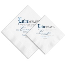 Love Never Fails Ooh La Color Napkins