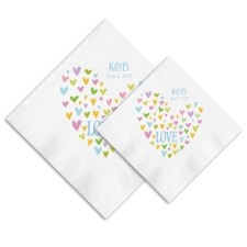 Heart of Hearts Ooh La Color Napkins