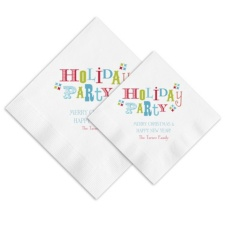 Holiday Party Ooh La Color Napkins