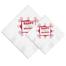 Happy Holidays Ooh La Color Napkins