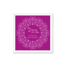Snowflake Filigree Ooh La Color Cocktail Napkins