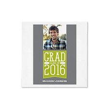 Grad Banner Photo Ooh La Color Dinner Napkin