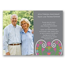 Floral Sweetheart Photo Anniversary Invitation