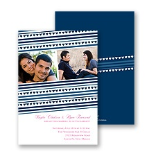 Tiny Hearts Photo Engagement Party Invitation - Midnight