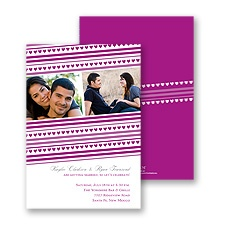 Tiny Hearts Photo Engagement Party Invitation - Amethyst